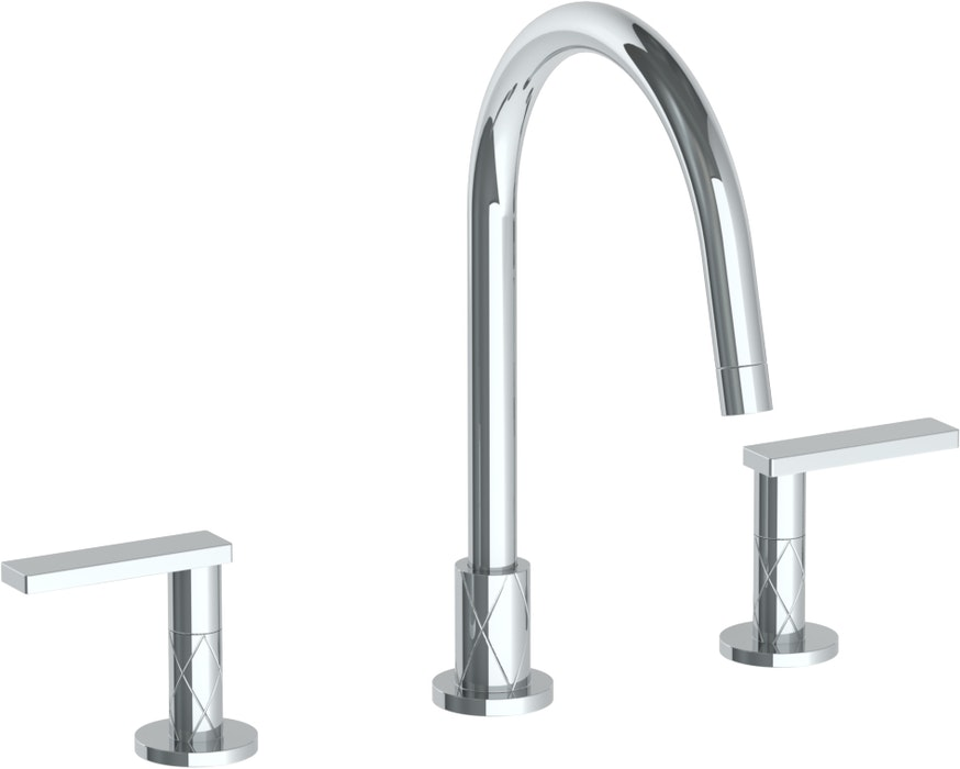 Lily 71 - Deck Mounted 3 Hole Gooseneck Kitchen Faucet ...